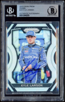 Kyle Larson Signed 2018 Panini Prizm Prizms #34 (BGS Encapsulated) at PristineAuction.com