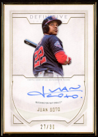 Juan Soto 2019 Topps Definitive Collection Framed Autographs #DCFAJS at PristineAuction.com