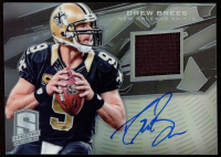 Drew Brees 2013 Panini Spectra Signature Materials Blue #10 at PristineAuction.com