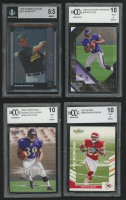 Lot of (10) Assorted Graded Cards with 1978 Landsman Playing Cards #NNO Mickey Mantle (BCCG 10), 2002 UD Piece of History #161 Marques Anderson (SGC 8.5), 2001-02 SPx #139A Sean Selmser RC (BGS 8.5) at PristineAuction.com