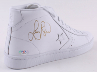Larry Bird Signed Vintage Converse Basketball Shoe (PSA COA) at PristineAuction.com