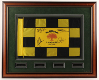 """The Skins Game"" Landmark Golf Club 25.5x31.5 Custom Framed Golf Pin Flag Signed by (4) with Tiger Woods, Greg Norman, Jesper Parnevik & Colin Montgomerie (JSA LOA) at PristineAuction.com"
