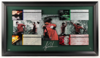 """Tiger Woods Signed LE """"The Masters"""" 24x41.5 Custom Framed Display (UDA COA) at PristineAuction.com"""