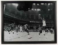 Michael Jordan Signed North Carolina Tar Heels 33.5x43.5 Custom Framed Photo Display (UDA Hologram) at PristineAuction.com