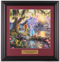 "Thomas Kinkade Walt Disney's ""The Princess & the Frog"" 16.5x17 Custom Framed Print Display at PristineAuction.com"