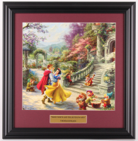 "Thomas Kinkade Walt Disney's ""Snow White and the Seven Dwarfs"" 16.5x17 Custom Framed Print Display at PristineAuction.com"