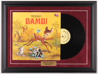 "Vintage 1964 LP Walt Disney's ""Bambi"" 18.5x24.5 Custom Framed Vinyl Record Album Display at PristineAuction.com"