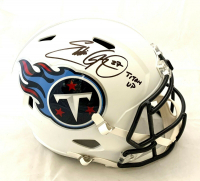 "Eddie George Signed Titans Full-Size Speed Helmet Inscribed ""Titan Up"" (Beckett COA) at PristineAuction.com"