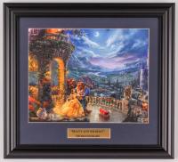 "Thomas Kinkade Walt Disney's ""Beauty & the Beast"" 15x16.5 Custom Framed Print Display at PristineAuction.com"