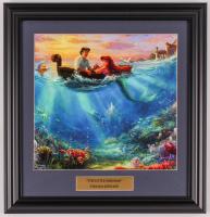 "Thomas Kinkade Walt Disney's ""The Little Mermaid"" 16.5x17 Custom Framed Print Display at PristineAuction.com"