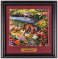 "Thomas Kinkade Walt Disney's ""Alice in Wonderland"" 16x16.5 Custom Framed Print Display at PristineAuction.com"