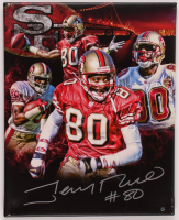 Jerry Rice Signed 49ers 16x20 Photo On Canvas (Steiner Hologram) at PristineAuction.com
