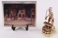 "Vintage 1970's Disneyland ""Pirates of the Caribbean"" Souvenir Figure Display with Lenticular Souvenir Ride Photo at PristineAuction.com"