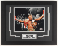 Mike Tyson Signed 14.25x18 Custom Framed Photo Display (Fiterman Hologram) at PristineAuction.com
