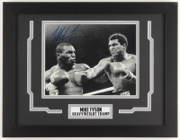 Mike Tyson Signed 14x18 Custom Framed Photo Display (Fiterman Hologram) at PristineAuction.com