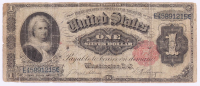 1891 $1 One Dollar U.S. Silver Certificate Large-Size Bank Note at PristineAuction.com