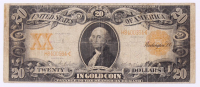 1906 $20 Twenty Dollar U.S. National Currency Gold Seal Bank Note at PristineAuction.com