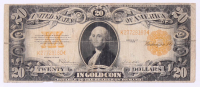 1922 $20 Twenty Dollar U.S. National Currency Gold Seal Bank Note at PristineAuction.com
