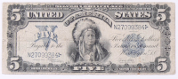 1899 $5 Five Dollar U.S. Silver Certificate Large-Size Bank Note at PristineAuction.com