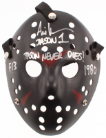 "Ari Lehman Signed ""Friday the 13th"" Mask Inscribed ""Jason 1"", ""Jason Never Dies!"", ""F13"" & ""1980"" (JSA COA) at PristineAuction.com"
