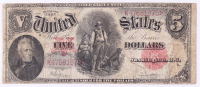 1907 $5 Five Dollar 1907 Series $5 Woodchopper United States Large-Size Bank Notes at PristineAuction.com