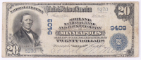 1902 $20 Twenty Dollars U.S. National Currency Bank Note - The Midland National Bank & Trust Company at Minneapolis, Minnesota at PristineAuction.com