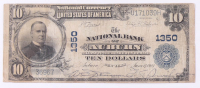 1902 $10 Ten Dollars U.S. National Currency Bank Note - The National Bank City of Auburn, New York at PristineAuction.com