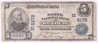1902 $5 Five Dollars U.S. National Currency Bank Note - The State National Bank City of St. Louis, Missouri at PristineAuction.com