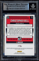 Christopher Bell Signed 2019 Donruss Silver #71 (BGS Encapsulated) at PristineAuction.com