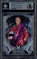 Christopher Bell Signed 2018 Panini Victory Lane Silver #35 RC (BGS Encapsulated) at PristineAuction.com