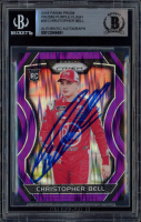 Christopher Bell Signed 2018 Panini Prizm Prizms Purple Flash #39 RC (BGS Encapsulated) at PristineAuction.com