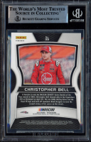 Christopher Bell Signed 2018 Panini Prizm Prizms Red, White, & Blue #39 RC (BGS Encapsulated) at PristineAuction.com