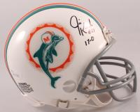 "Jim Kiick Signed Dolphins Mini Helmet Inscribed ""17-0"" (JSA COA) at PristineAuction.com"