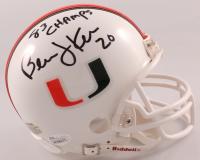 "Bernie Kosar Signed Miami Hurricanes Mini Helmet Inscribed ""83 Champs"" (JSA COA) at PristineAuction.com"