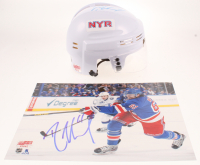Lot of (2) Rick Nash Signed Rangers Logo Items with (1) Mini Helmet & (1) 8x10 Photo (Your Sports Memorabilia Store COA) at PristineAuction.com