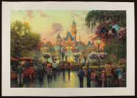 "Thomas Kinkade LE ""Disneyland"" 22x31 Hand-Numbered Print at PristineAuction.com"