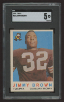 Jim Brown 1959 Topps #10 (SGC 5) at PristineAuction.com
