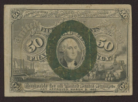 1863 United States 50¢ Fifty Cents Fractional Bank Note Bill (Second Issue) at PristineAuction.com
