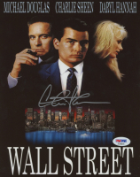 "Charlie Sheen Signed ""Wall Street"" 8x10 Photo (PSA COA) at PristineAuction.com"