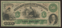 1800s $50 Fifty Dollar Citizens Bank of Louisiana Bank Note at PristineAuction.com