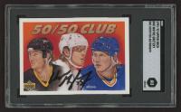 Wayne Gretzky Signed 1991-92 Upper Deck #45 The 50/50 Club (SGC Encapsulated) at PristineAuction.com