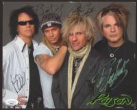 """Poison"" 8x10 Photo Signed Bret Michaels, C.C. DeVille, Rikki Rockett, & Bobby Dall (JSA COA) at PristineAuction.com"