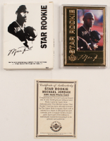 """Michael Jordan 1996 LE 22kt Gold Upper Deck """"Star Rookie"""" Basketball Photo Card at PristineAuction.com"""