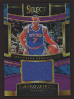 Carmelo Anthony 2018-19 Select Throwback Memorabilia Prizms Purple #6 at PristineAuction.com