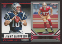 Lot of (2) Panini Football Cards with Jimmy Garoppolo 2014 Rookies and Stars #152 RC & Nick Bosa 2019 Panini Playbook #118 RC at PristineAuction.com