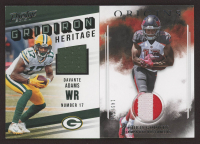Lot of (2) Memorabilia Football Cards with Davante Adams 2019 Prestige Gridiron Heritage Jerseys #3 & Chris Godwin 2017 Panini Origins Rookie Patches #20 at PristineAuction.com