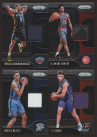 Lot of (4) 2019-20 Panini Prizm Sensational Swatches Basketball Cards with #4 De'Andre Hunter, #21 Ty Jerome, #16 Nickeil Alexander-Walker & #45 Darius Bazley at PristineAuction.com