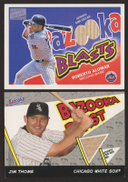 Lot of (2) Bazooka Blasts Memorabilia Baseball Cards with Jim Thome 2006 Bat Relics #JT & Roberto Alomar 2003 Relics #RA at PristineAuction.com