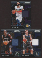 Lot of (3) 2019-20 Panini Prizm Sensational Swatches Basketball Cards with #76 Anthony Davis, #41 Dirk Nowitzki # #70 Kevin Garnett at PristineAuction.com
