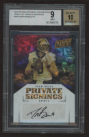 Drew Brees 2018 Panini National Convention Gold VIP Private Signings #DB (BGS 9) at PristineAuction.com